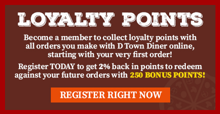 D Town Diner Craigavon loyalty points